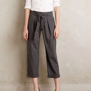 NWT Anthro Cartonnier Belted Barton Trousers
